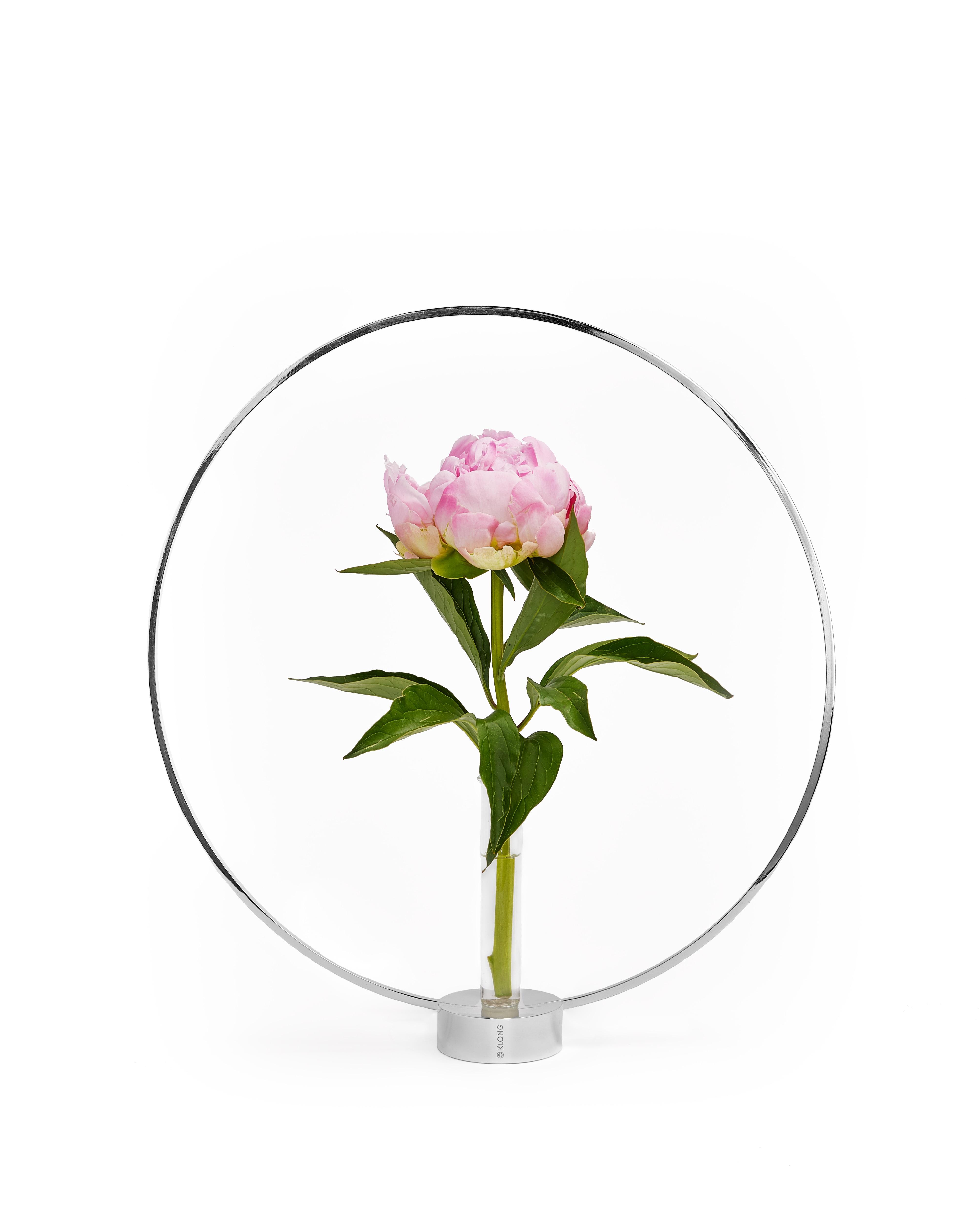 Gloria stor silver med blomma